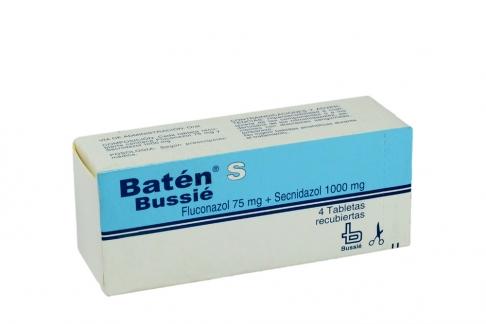 Batén Bussie 75 / 1000 mg Caja Con 4 Tabletas Recubiertas Rx