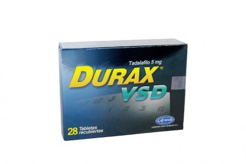 Durax VSD 5 mg Caja Con 28 Tabletas Recubiertas Rx