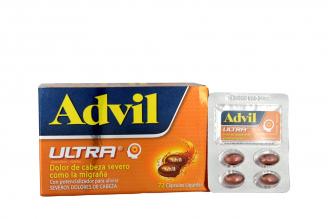 Advil Ultra Con Potencializador Caja Con 72 Cápsulas Líquidas