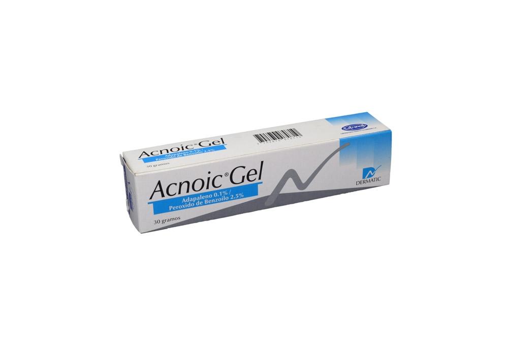 Acnoic Gel 0.1 / 6.25 g Caja Con Tubo Con 30 g Rx
