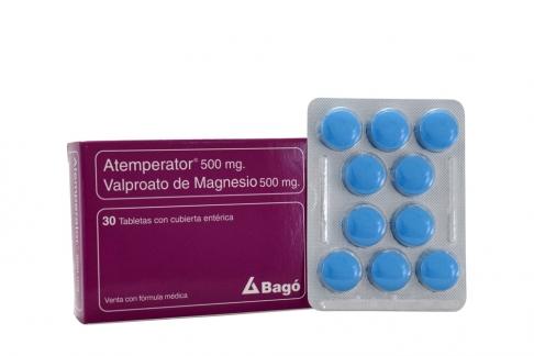 Atemperator 500 mg Caja Con 30 Tabletas Con Cubierta Entérica Rx4