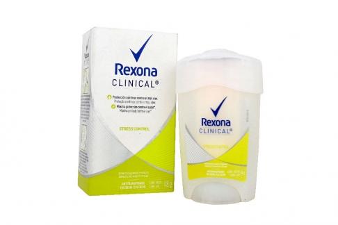 Antitranspirante Rexona Clinical Stress Control Crema Caja Con Frasco Con 48 g