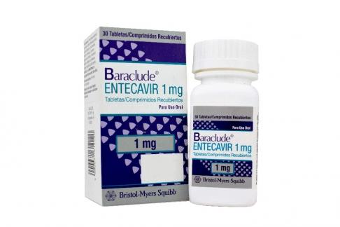 Baraclude 1,0 mg Caja x 30 Tabletas Rx4