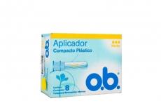 OB Tampón Medio Con Aplicador Plástico Caja Con 8 Unidades
