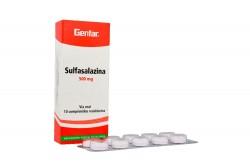 Sulfasalazina 500 mg Caja x 10 Tabletas Recubiertas Rx4