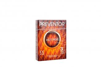 Condón Preventor Hot Hot Caja Con 3 Unidades
