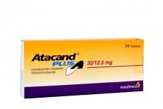 Atacand Plus 32 / 12.5 mg Astrazeneca Caja Con 14 Tabletas Rx4