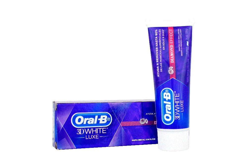 Oral B Crema Cental 3D White Luxe Caja Con Tubo Con 75 mL ... c1938dd4652d