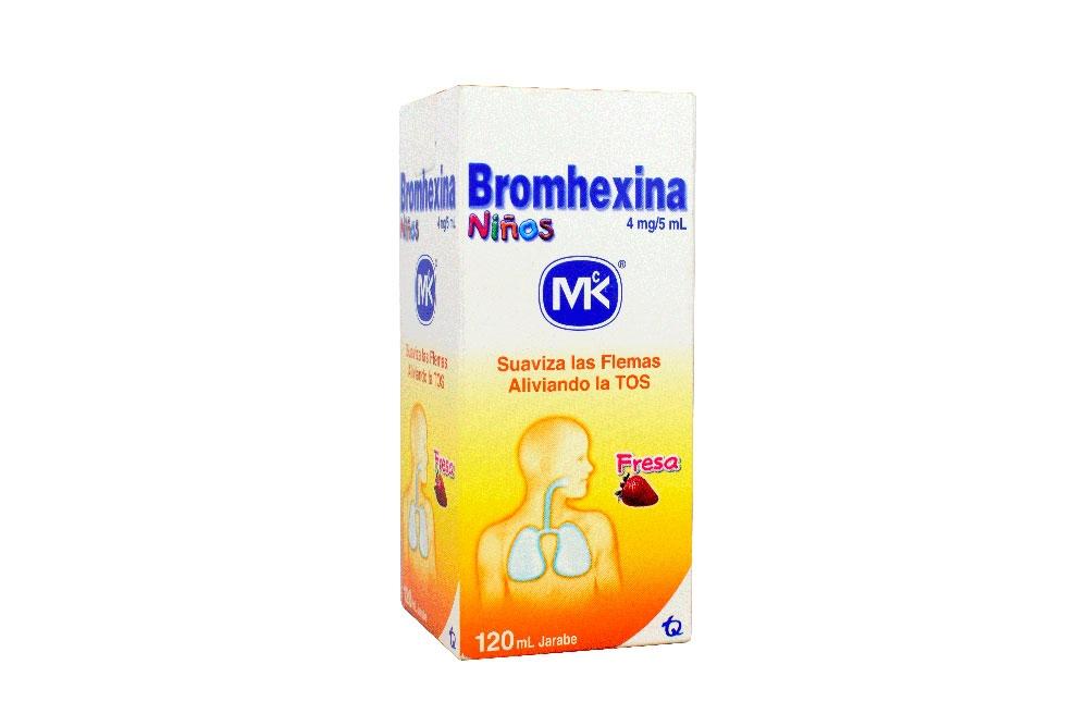 Bromhexina Niños Jarabe Frasco Con 120 mL