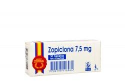 Zopiclona Recipe 7.5 mg Caja Con 30 Tabletas Recubiertas Rx