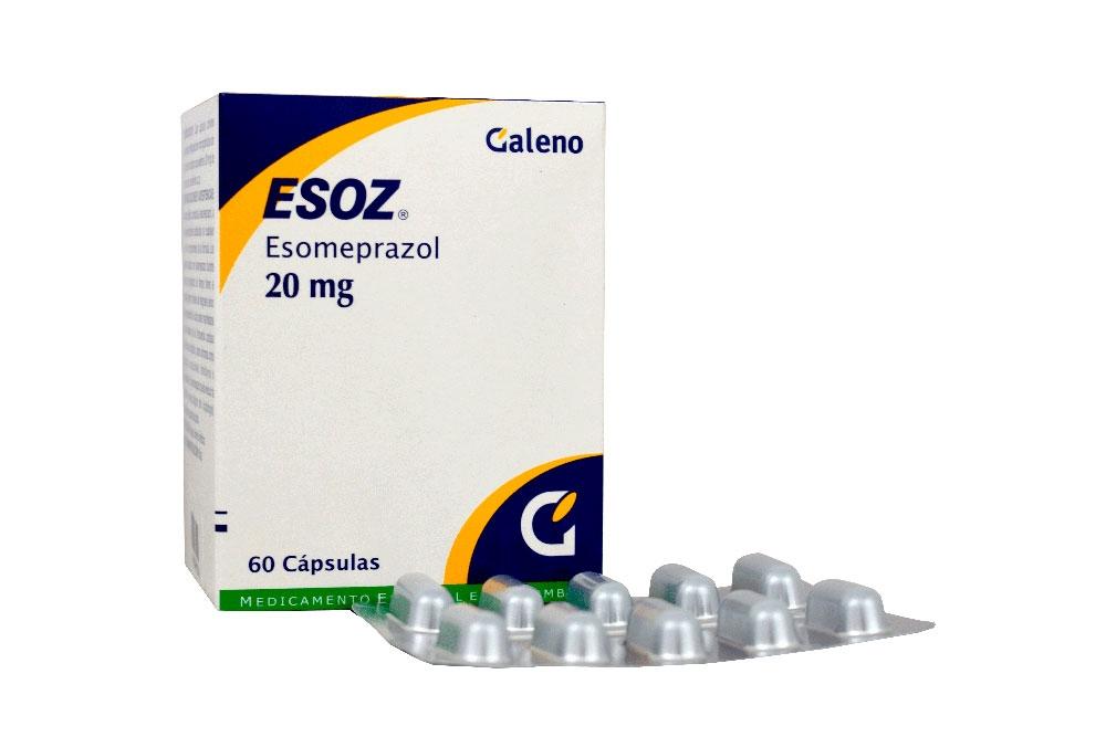 Esoz 20 mg Caja Con 60 Cápsulas Rx