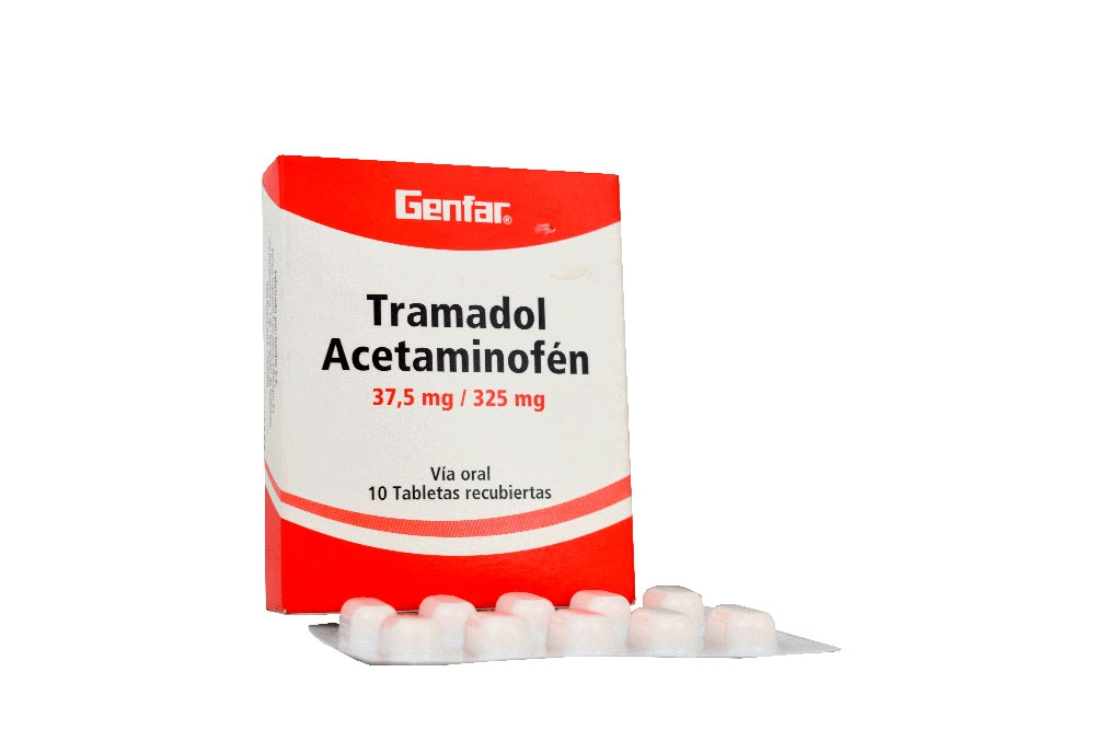 Tramadol + Acetaminofen 37.5mg / 325mg Caja Con 10 Tabletas Rx