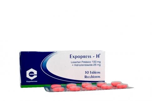 Expopress H 100 / 25 mg Caja Con 30 Tabletas Recubiertas Rx