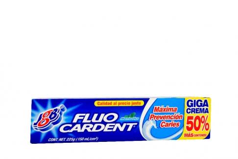 Crema Dental Fluocardent Sabor A Menta Caja Con Tubo Con 150 mL