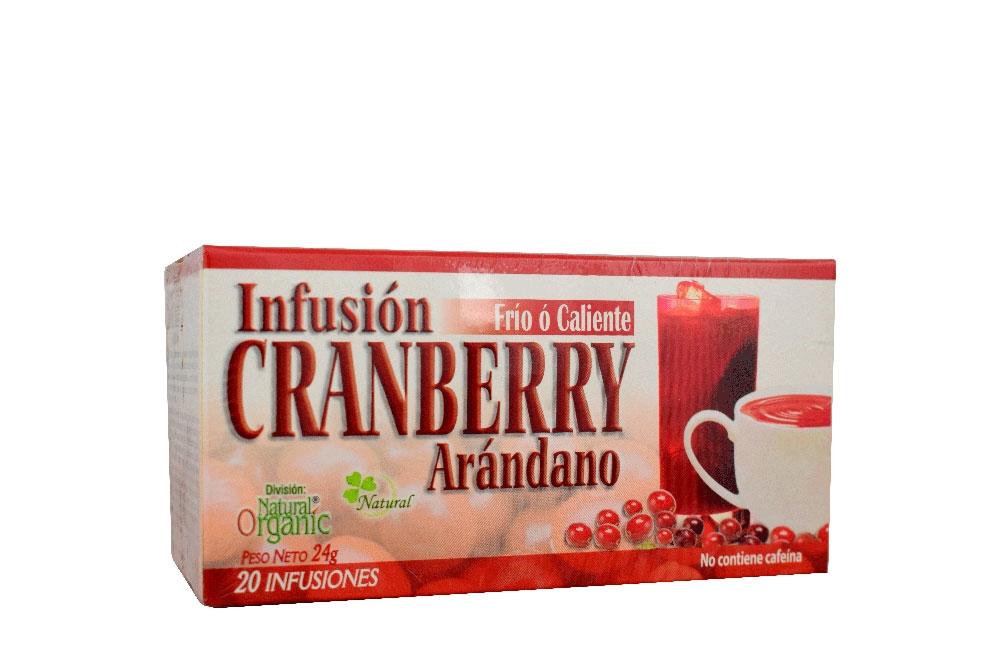 Infusión Cranberry Arándano Natural Freshly Caja Con 20 Unidades
