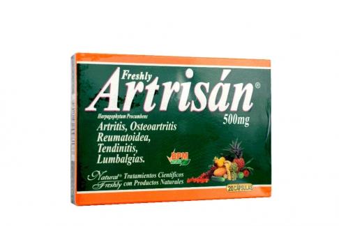Artrisan Freshly 500 Mg X 20 Cápsulas