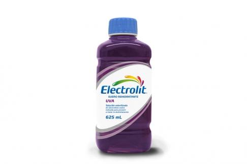 Electrolit Suero Rehidratante Frasco Con 625 mL - Sabor Uva