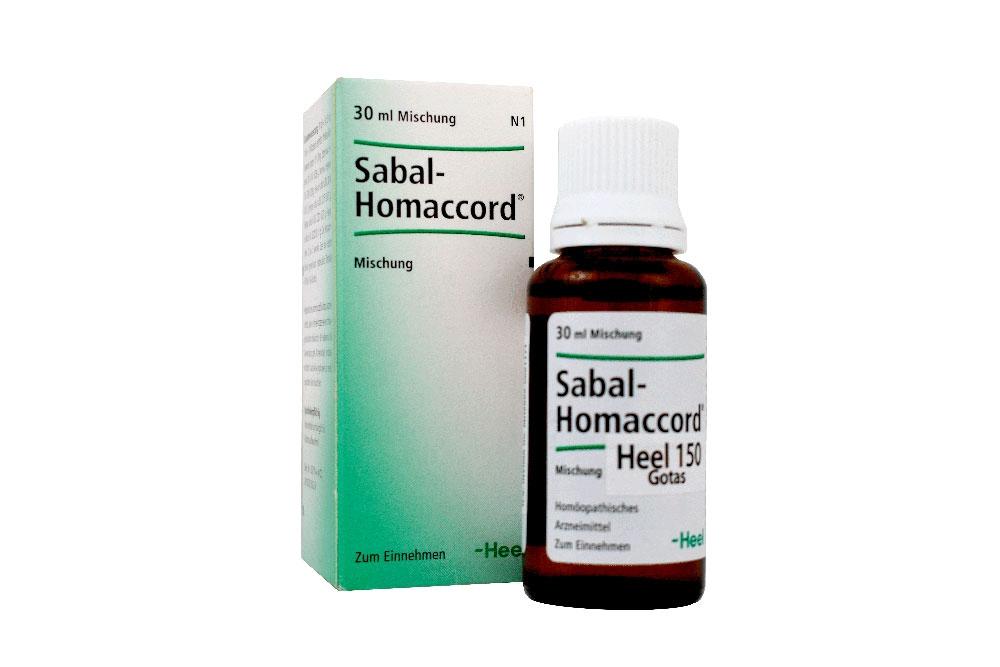 Sabal-Homaccord Heel 150 Gotas Caja Con Frasco Con 30 mL Rx
