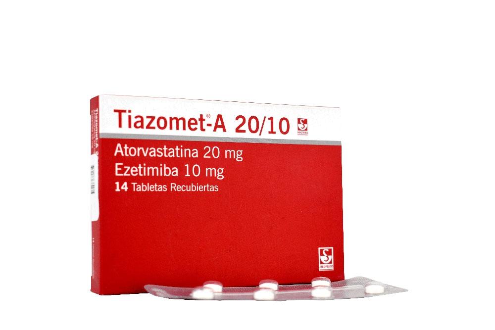 Tiazomet-A 20 / 10 mg Caja Con 14 Tabletas Recubiertas Rx4