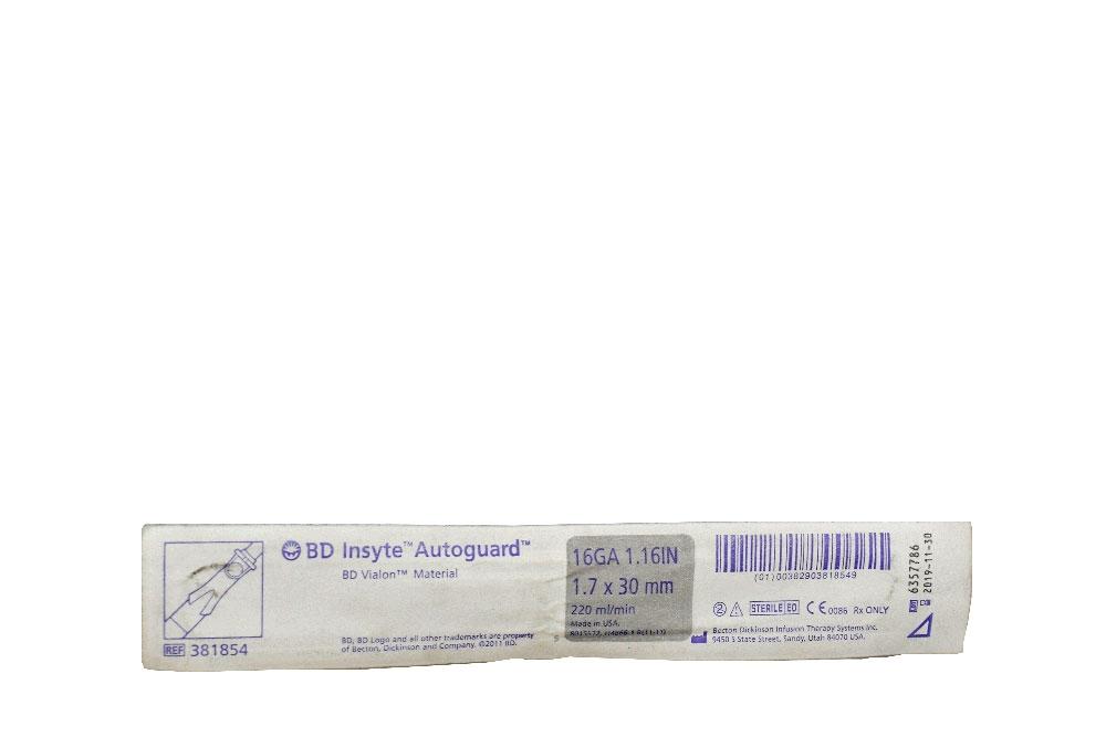 Catéter BD Vialon 1.7 x 30 mm Bolsa Con 1 Unidad