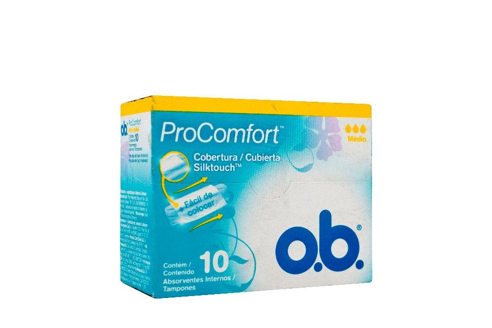 Tampón Ob Procomfort Medio Caja Con 10 Unidades