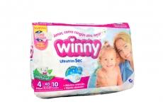 Winny Pañales Extra Sec Etapa 4 Paca Con 10 Unidades