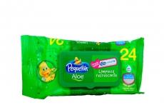Pequenin Pañitos Hum Aloe Vera X 24 Unds Ref 31225