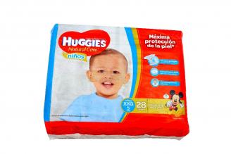 Etapa 5 Pañal Huggies Natural Care Niños Paca Con 26 Unidades