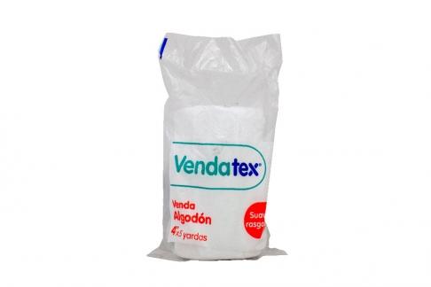 """Venda Algodón Vendatex 4"""" x 5 Yardas Bolsa Con 1 Unidad"""