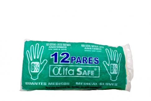Guantes De Látex No Estériles Alfa N° 6½ Caja Con 12 Unidades