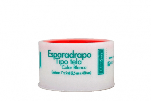 Esparadrapo Alfa Blanco Tela 1 X 5 Yds Bolsa X Unidad