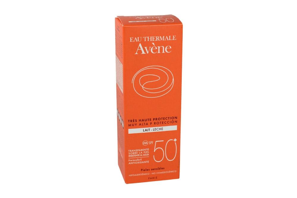 Eau Thermale Avène Leche SPF 50 + Caja Con Frasco Con 100 mL