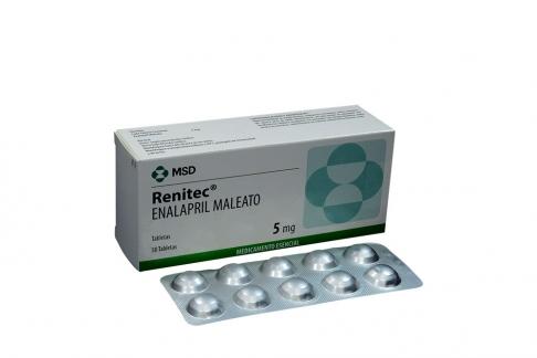Renitec 5 mg Caja Con 50 Tabletas Rx4