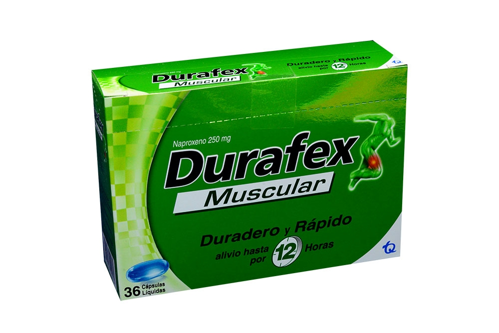 Durafex Muscular 250 mg Caja Con 36 Cápsulas Líquidas