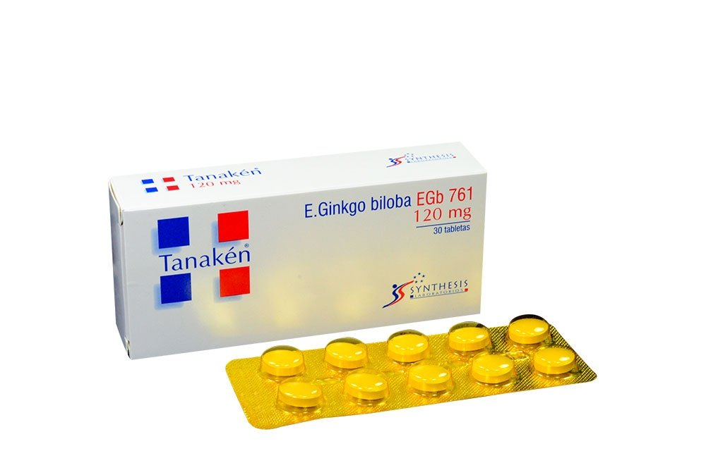 Tanaken 120 mg Caja Con 30 Tabletas Recubiertas Rx4