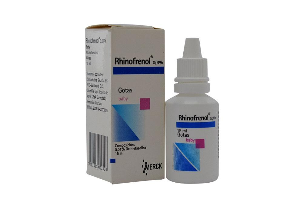 Rhinofrenol Gotas Baby 0,01% Caja Con Frasco Con 15 mL Rx