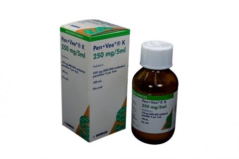 Pen Vee K  250 mg / 5 mL Caja Con Frasco Con 100 mL Rx