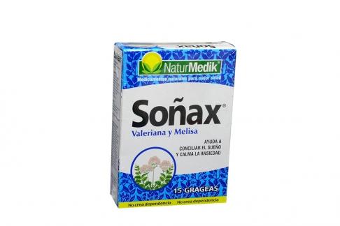 Soñax Caja Con 15 Grageas - Valeriana y Melisa