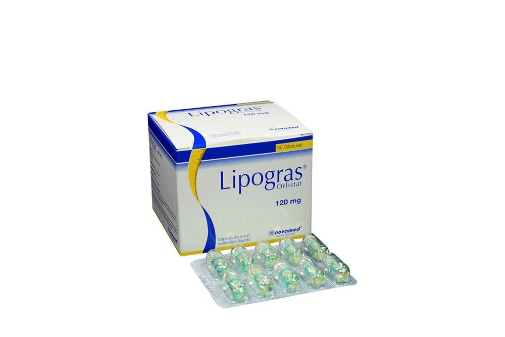 Lipogras 120 mg Caja Con 60 Cápsulas Con Contenido Líquido Rx