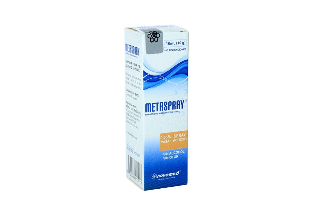 Metaspray Nasal 10 mL Caja Con Spray Con 100 Aplicaciones Rx