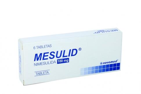 Mesulid 100 mg Caja x 6 Tabletas Rx