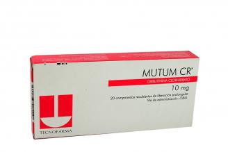 Mutum CR 10 mg Caja Con 20 Comprimidos Rx