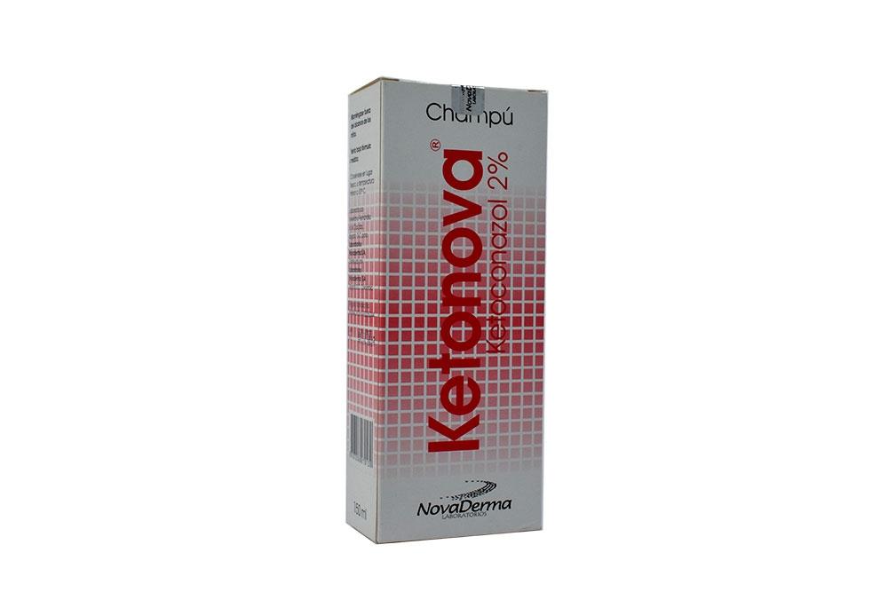 Shampoo Ketonova 2% Caja Con Frasco Con 150 mL Rx
