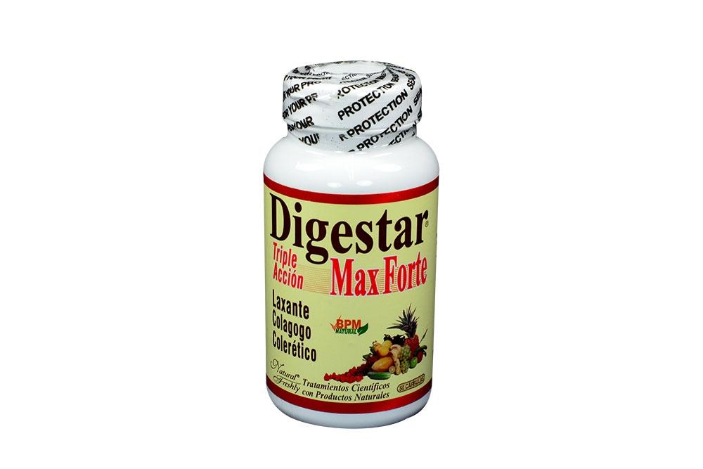 Digestar Max Forte Triple Acción Frasco Con 50 Cápsulas
