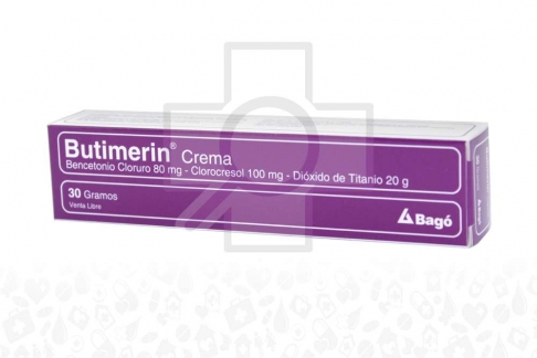 Butimerin Bencetonio 80 Mg / Clorocresol 100 Mg / Dióxido De Titánio 20 g Caja Con Crena Con 30 g