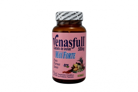 Venasfull Max Forte 500 mg Frasco Con 50 Cápsulas