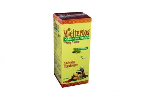 Mieltertos Jarabe Sabor Mentholyptus Caja Con Frasco Con 240 mL