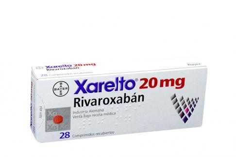 Xarelto 20 mg Caja Con 28 Comprimidos Recubiertos Rx1