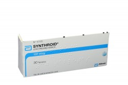 Synthroid 137 mcg Caja x 30 Tabletas Rx