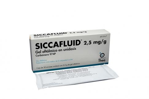 Siccafluid 2.5 mg / g Caja Con 30 Unidosis Rx